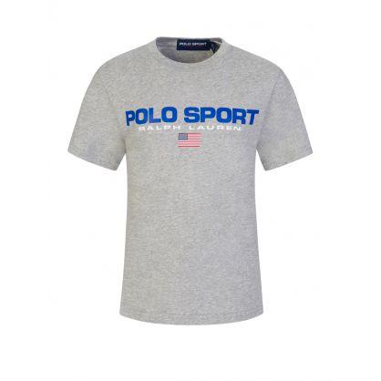 Kids Grey Polo Sport Classic Logo T-Shirt