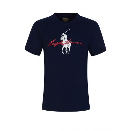 Kids Navy Signature Graphic T-Shirt
