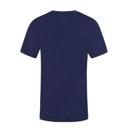 Kids Navy Polo Player Graphic T-Shirt