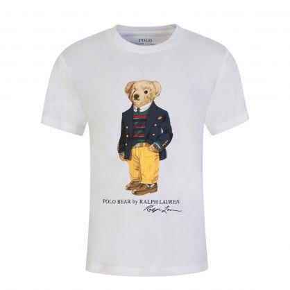 Kids White Polo Bear T-Shirt