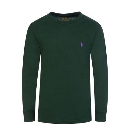 Kids Green Long Sleeve T-Shirt