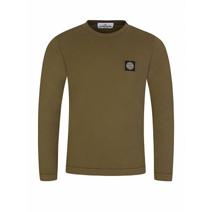 Junior Green Long-Sleeve Logo T-Shirt