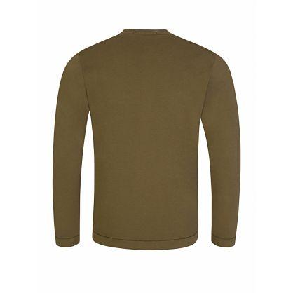 Junior Green Long-Sleeve Logo T-Shirt