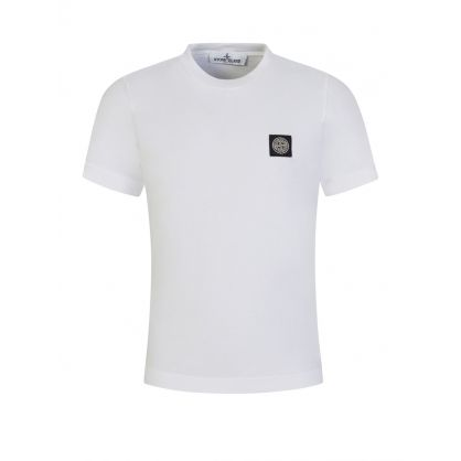 Junior White Cotton T-Shirt