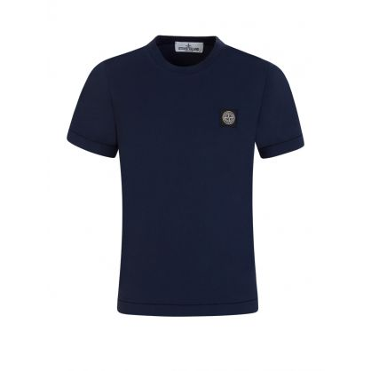 Junior Blue Cotton T-Shirt