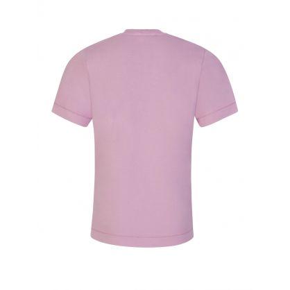 Junior Pink Compass Patch Logo T-Shirt