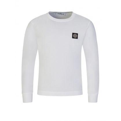Junior Pure White Compass Patch Logo T-Shirt