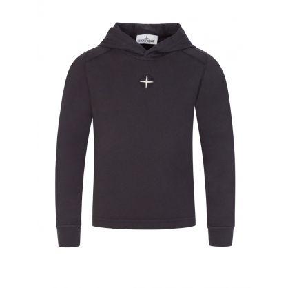 Junior Black Hooded T-Shirt