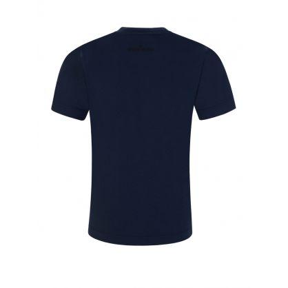Junior Navy Blue Compass Logo T-Shirt