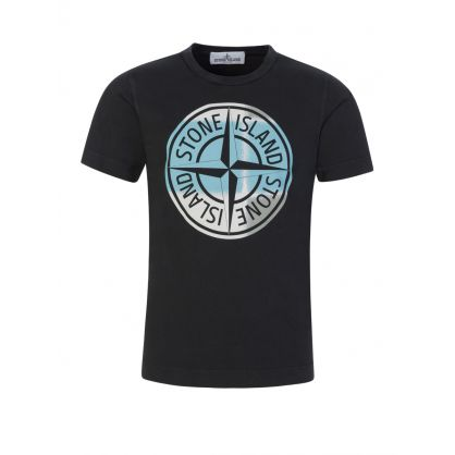 Junior Black Compass Logo T-Shirt