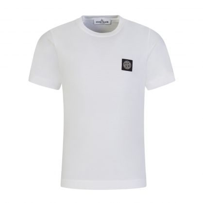 Junior White Compass Patch T-Shirt