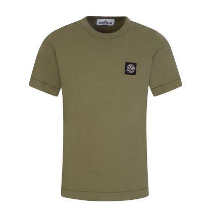 Junior Green Logo Badge T-Shirt