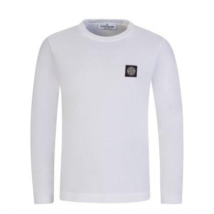 Junior White Logo Badge T-Shirt
