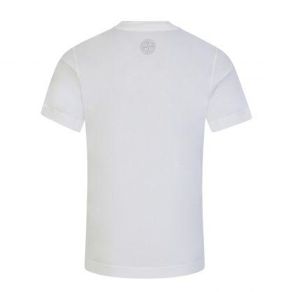 Junior White Compass Logo Print T-Shirt