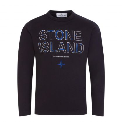 Junior Black Long-Sleeve Morse Code T-Shirt