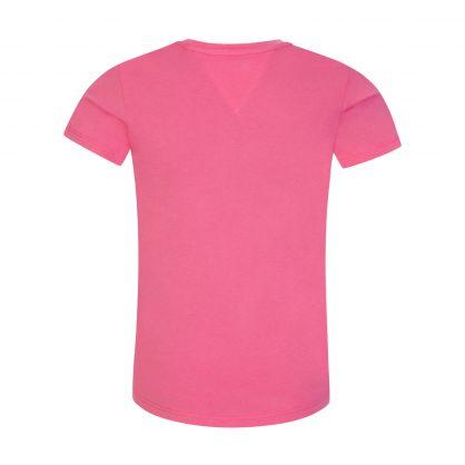 Kids Pink Organic Cotton Essential Logo T-Shirt