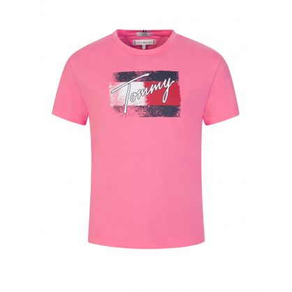 Kids Pink Flag T-Shirt