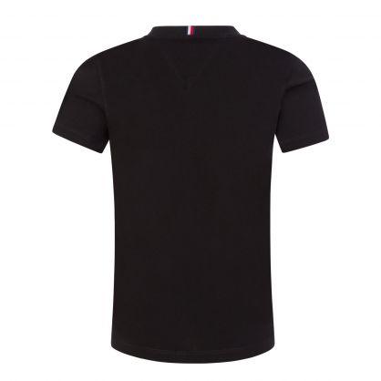 Kids Black Essential Logo-Print T-Shirt