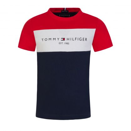 Kids Navy Essential Colour-Blocked T-Shirt