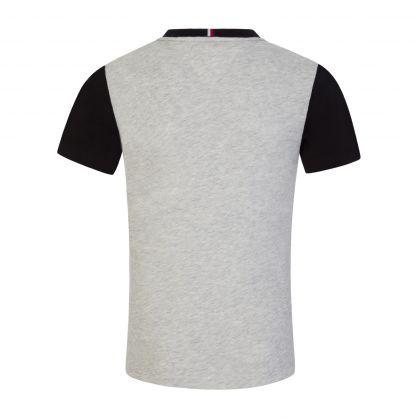 Kids Grey Essential Colour-Blocked T-Shirt
