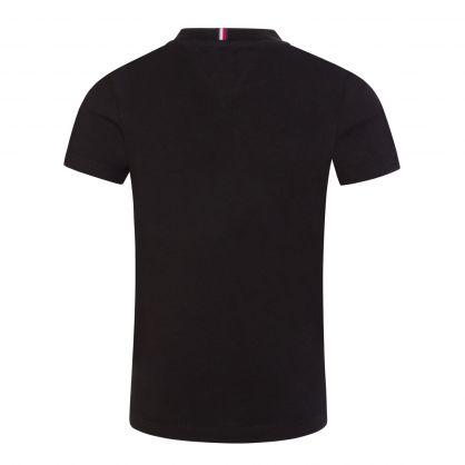 Kids Black Organic Cotton Essential Logo T-Shirt