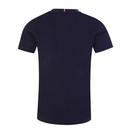 Kids Navy Organic Cotton Essential Logo T-Shirt