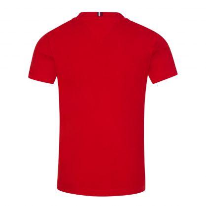 Kids Red Organic Cotton Essential Logo T-Shirt