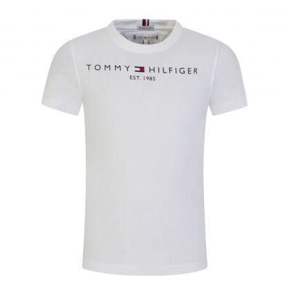Kids White Organic Cotton Essential Logo T-Shirt