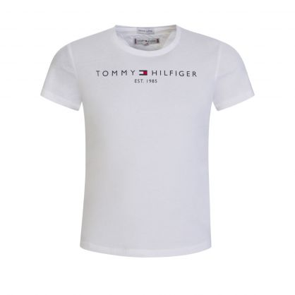 Kids White Essential Short Sleeve T-Shirt