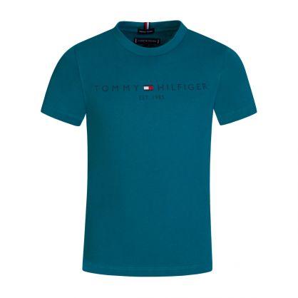 Kids Teal Essential Logo T-Shirt