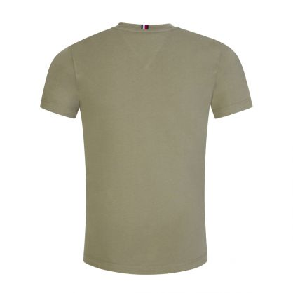 Kids Olive Green Essential Logo T-Shirt