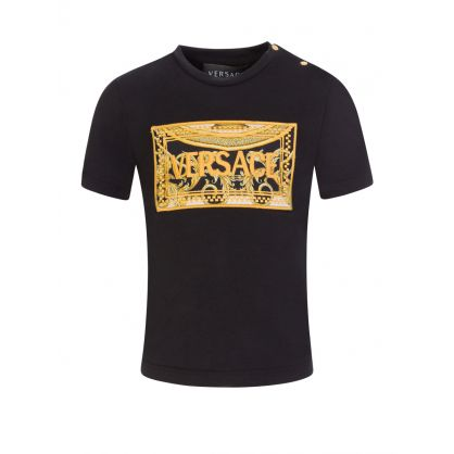 Black Baroque Chest Logo T-Shirt