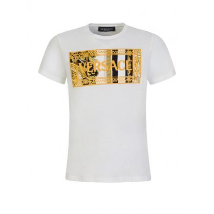 White Chest Logo Junior T-Shirt