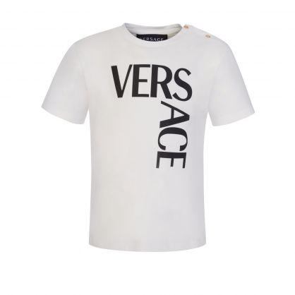 White Toddler Oversized-Print T-Shirt
