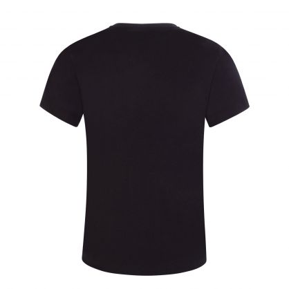 Black Junior Greca Neon Medusa-Print T-Shirt