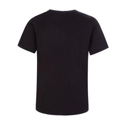 Black Junior Oversized-Print Logo T-Shirt