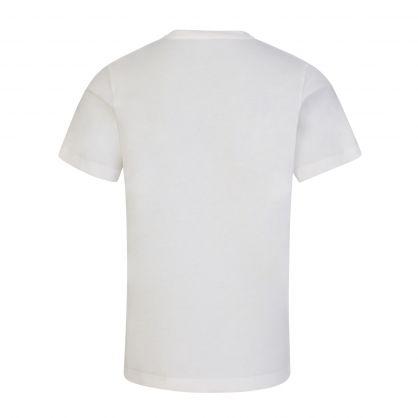 White Oversized-Logo Junior T-Shirt