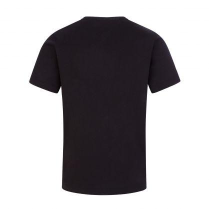 Black Embroidered Logo Junior T-Shirt