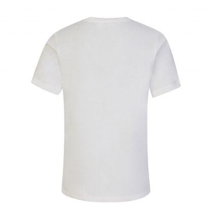 White Junior Embroidered Logo T-Shirt