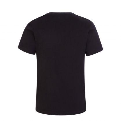 Black Junior Medusa Safety Pin Logo T-Shirt