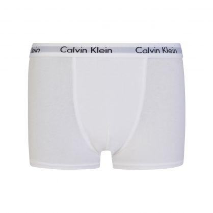 Kids Black/White Boys Modern Cotton Trunk Boxers 2-Pack