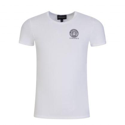 White/Black Junior Medusa Logo Lounge T-Shirts 2-Pack
