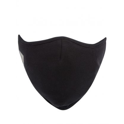 Black Reflective Logo Face Mask