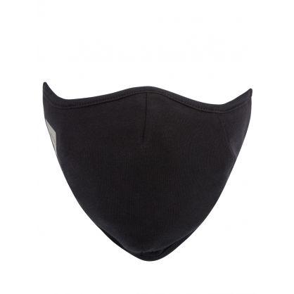 Black Reflective Logo Face Mask