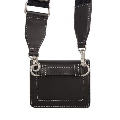 Black Leather Mini Accordéon Bag