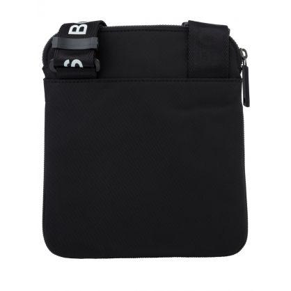 Black Pixel Zip Crossbody Bag