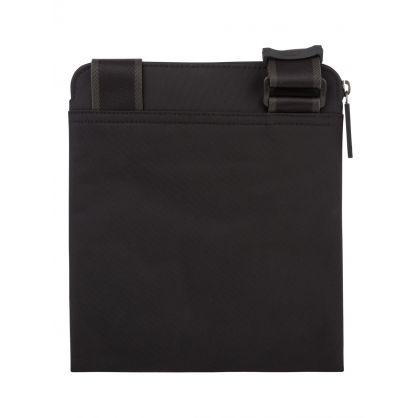 Black Structured Nylon Envelope Bag