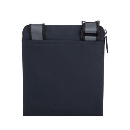 Navy Structured Nylon Zip Envelope Bag