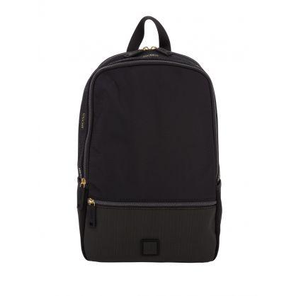 Black Logo Tape Pixel Backpack