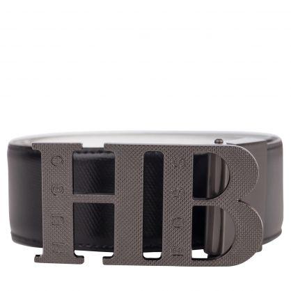 Black/White Balwinno Reversible Leather Belt